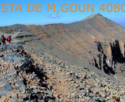 La Cumbre de M,Goun, desde Agouti a Tarkeddit